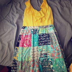 Lilly Pulitzer halter patchwork dress